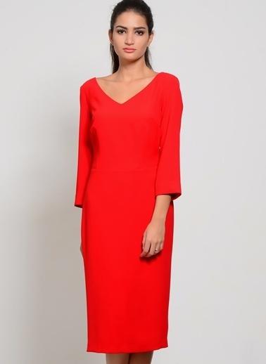 House Of Camellia Elbise Kırmızı